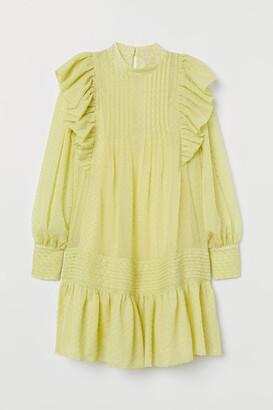 H&M Ruffle-trimmed Tunic - Yellow