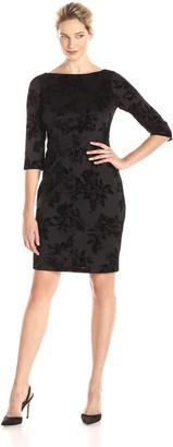 Kasper Women's Floral Printed Sheath Dress Black/ 8