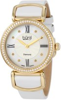 Burgi Women's BUR065WT Swiss Quartz Diamond Strap Watch