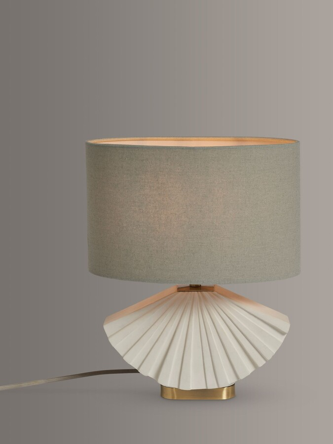 Thumbnail for your product : John Lewis & Partners Fan Concrete Table Lamp, Natural