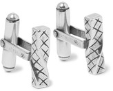 Bottega Veneta Intrecciato Sterling Silver Cufflinks - Silver