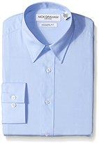 Nick Graham Everywhere Men's Solid Dress Shirt, Light Blue, Medium/Regular