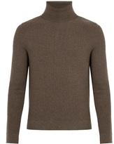 Boglioli Elbow-patch roll-neck wool sweater