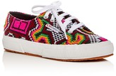 Superga Poly Cross Stitch Lace Up Sneakers