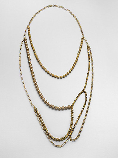 Florian Layered Bead & Chain Necklace