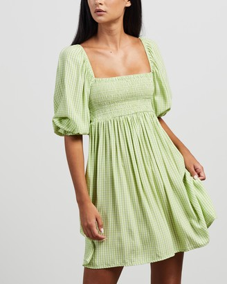 Faithfull The Brand Women's Green Mini Dresses - Alina Mini Dress - Size XS at The Iconic