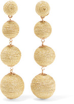 Kenneth Jay Lane Metallic Cord Earrings