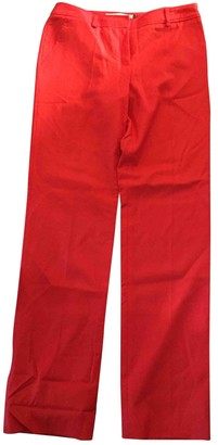 JC de CASTELBAJAC Red Wool Trousers