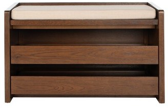 Linea Byron Shoe Storage Bench Dotted Color: Walnut