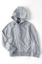 Classic Little Girls T200 Hooded Fleece Moto Hoodie Jacket-Gray Heather
