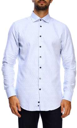 Etro Shirt Slim Micro Patterned Jacquard Shirt With Italian Collar