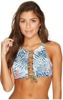 Roxy Strappy Love Printed Crop Bikini Top