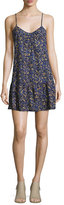 Current/Elliott The Strappy Cotton Cami Dress, Floral Field (Blue)
