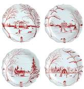 Juliska Country Estate Holiday Party Plates, Set of 4