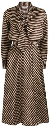 Kiton Silk Drawstring-Waist Dress