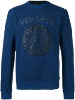 Versace Medusa head sweatshirt - men - Cotton/Lamb Skin - M