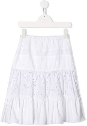 Lapin House Embroidered Panelled Skirt