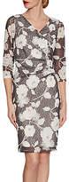 Gina Bacconi 3D Floral Printed Lace Dress, Slate