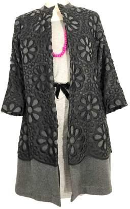 Lm Lulu Grey Wool Coat for Women