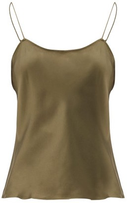 Frame Silk Cami Top - Khaki