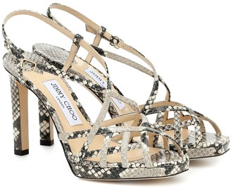 Jimmy Choo Sadae 100 snake-effect leather sandals