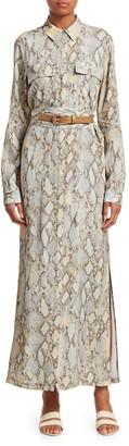 Lafayette 148 New York Doha Python Print Shirtdress