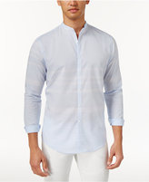 INC International Concepts Men's Band-Collar Striped Shirt, Only at Macy's