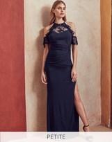 Lipsy Petite Lace Cold Shoulder Maxi Dress