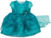 Nanette Baby Short Sleeve Empire Waist Dress - Baby