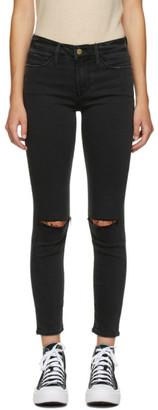 Frame Black Cropped Le Skinny De Jeanne Jeans