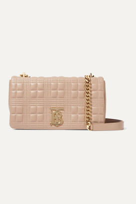Burberry Lola Small Quilted Leather Shoulder Bag - Sand