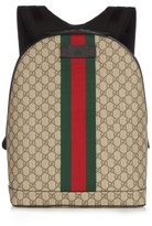 Gucci Gg Web Panel Canvas Backpack