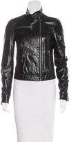 Dolce & Gabbana Leather Zip-Front Jacket