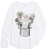 Stella McCartney 'Barley - Rabbit' Long Sleeve Graphic T-Shirt