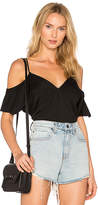 Alexander Wang Cold Shoulder Chain Top in Blue