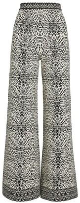 Alaia Flared Lynx Trousers