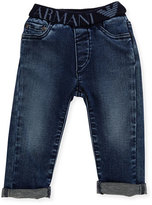 Armani Junior Stretch Denim Slim-Fit Jeans, Navy, Size 6-24 Months