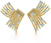 Tiffany & Co. Schlumberger V-Rope ear clips with diamonds.