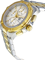 Tag Heuer Men's Aquaracer Unidirectional 18k Gold Bezel Chronograph Watch