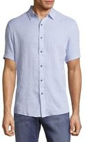 Report Collection Textured Casual Button-Front Shirt