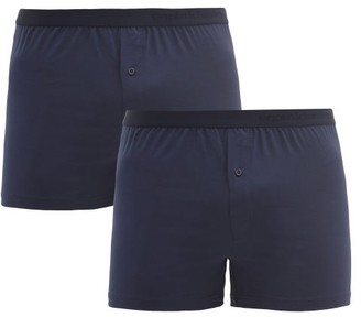 Organic Basics - Pack Of Two Stretch-jersey Boxer Briefs - Navy