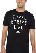 adidas Three Stripe Graphic Tee