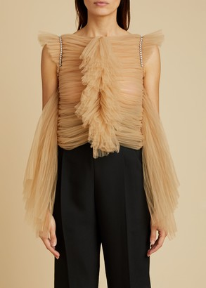 KHAITE The Dionne Top in Nude