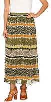 As Is Denim & Co. Printed Crinkle Gauze Maxi Skirt