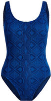 Polo Ralph Lauren Crocheted Lace-Up One-Piece