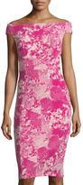 Jax Cap-Sleeve Floral-Print Sheath Dress