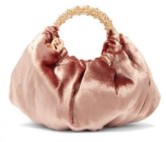 Rosantica Impero Crystal-embellished Velvet Handbag - Pink Multi