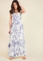 ModCloth Exquisite Epilogue Maxi Dress in Etched Blossoms in XS
