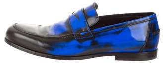 Jimmy Choo Burnished Patent Leather Loafers