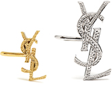 Saint Laurent Set of two Monogram ear cuffs